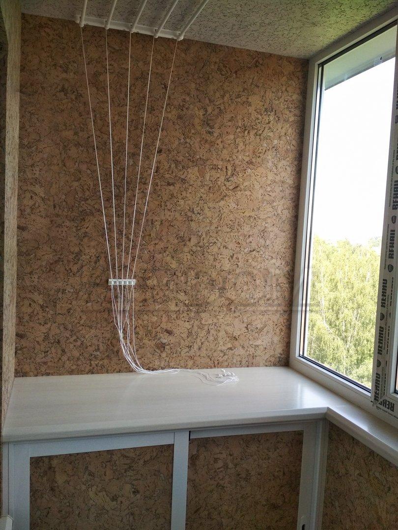 отделка балкона пробкой фото ученые
