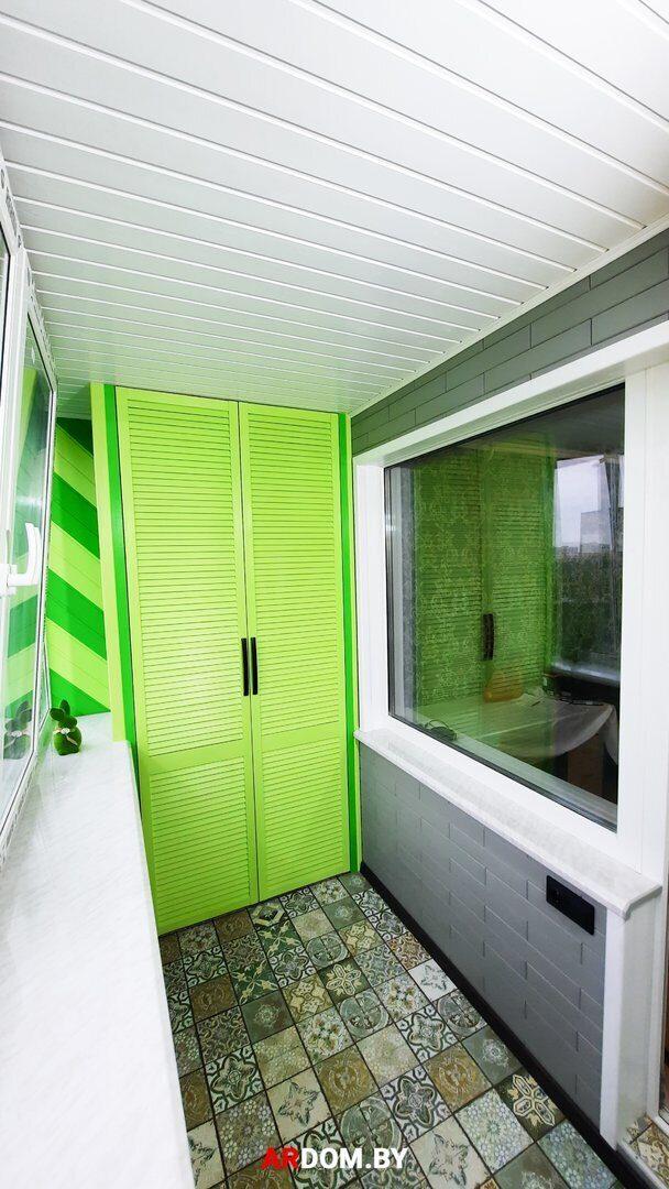 Цены на отделку балкона имитацией деревянного бруса